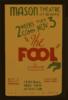 The Fool  By Channing Pollock Clip Art