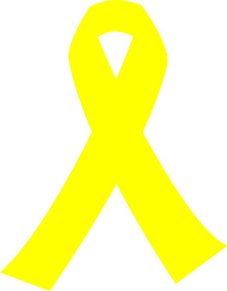 Yellow Cancer Ribbon Hi Clip Art At Clker Com Vector