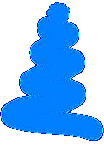 gold christmas tree clip art at clkercom vector clip art online royalty free public domain - Blue Christmas Tree