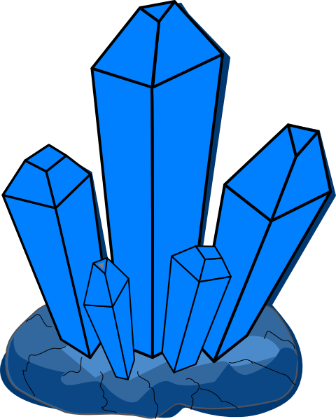 Blue Crystal Clip Art at Clker.com - vector clip art ... Quartz Clipart