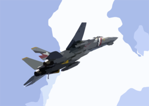 Tomcat Performs A Fly-by Of The Ship With It Clip Art