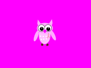 Pink Owl On Pink Background 2 Clip Art