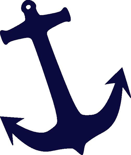 Tilt Navy Anchor Clip Art at Clker.com - vector clip art ...