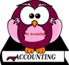Purple Owl On Book Black And White Clip Art