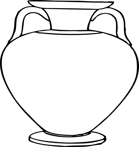 Line Drawing Vase : Large vase clip art at clker vector online