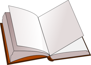 Open Book With Blank Pages Clip Art