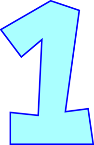 Number One (powder Blue) Clip Art