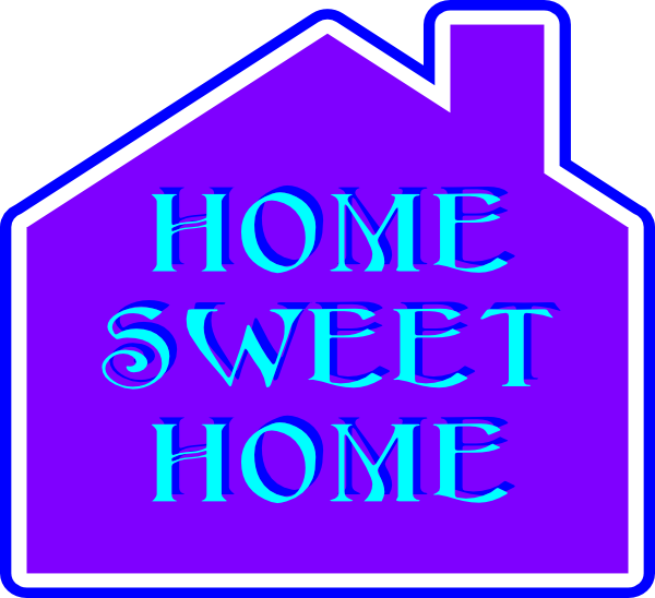 home sweet home clip art at clker com vector clip art online rh clker com home sweet home clipart images my sweet home clipart