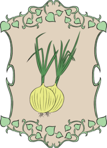 Garden Sign Onion Clip Art