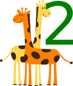 Two Giraffes Animals Clip Art