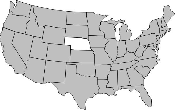 Nebraska Us Map Clip Art At Clkercom Vector Clip Art Online - Nebraska on the us map
