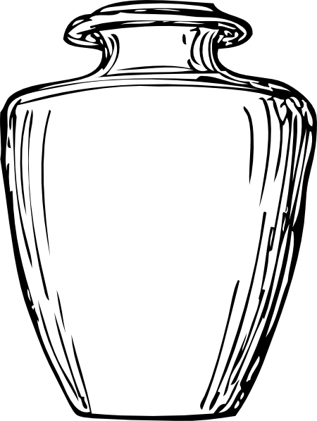 Black & White Greek Jar Clip Art at Clker.com - vector clip art online ...
