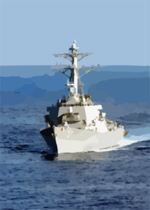 The Guided Missile Destroyer Uss Mahan (ddg 72) Steams Behind The George Washington During A Regularly Scheduled Deployment In Support Of Operation Enduring Freedom. Clip Art
