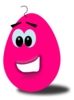 Hot Pink Comic Egg Clip Art
