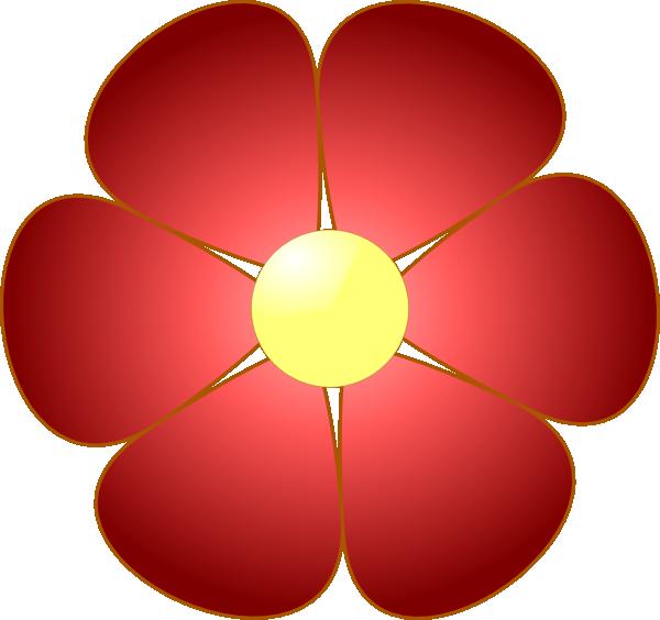 clip petals Red art rose