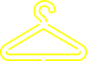 Yellow Clothing Hanger Clip Art at Clker.com - vector clip ...
