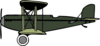 Green And Grey Biplane Clip Art