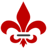 Red And Grey Fleur De Lis  Clip Art