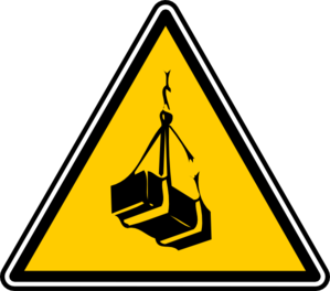 Warning - Crates Lift Clip Art