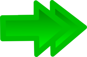 Double Forward Arrow In Green Clip Art