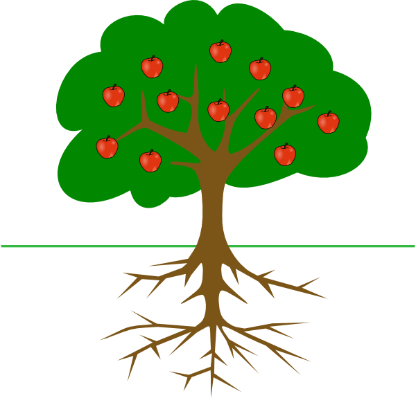 apple tree with roots clip art at clker com vector clip art rh clker com newton apple tree clipart apple tree clipart png