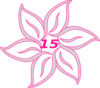 Flower Fifteen Pink Clip Art