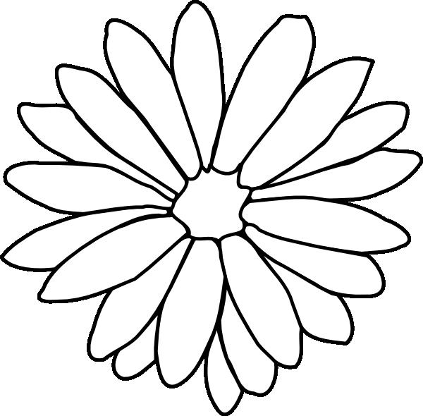 Daisy Clip Art at Clker.com - vector clip art online ... Sunflower Vector Black And White