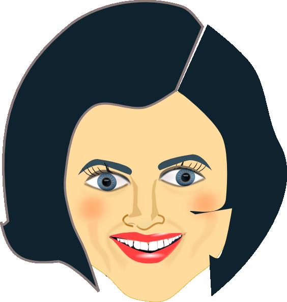 lady face clip art at clker com vector clip art online royalty