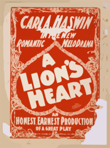 Carl A. Haswin In The New Romantic Melodrama, A Lion S Heart An Honest, Earnest Production Of A Great Play.  Clip Art