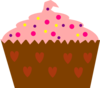 Pink Cupcake With Sprinkles Clip Art