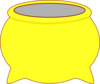 Yellow Pot Clip Art