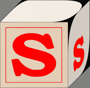 Letter S Block Red Clip Art