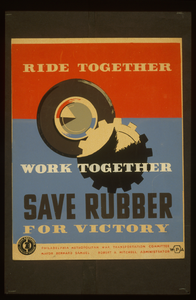 Ride Together - Work Together - Save Rubber For Victory Image