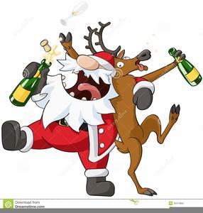 drunk christmas cartoon image - Drunk Christmas