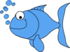 Light Blue Fish Clip Art