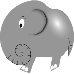 Elephant Cartoon Clip Art