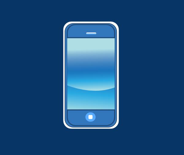 Blue Green Online >> Blue Iphone In Box Clip Art at Clker.com - vector clip art online, royalty free & public domain