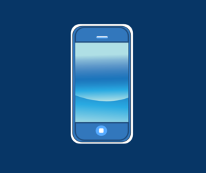 Blue Iphone In Box Clip Art