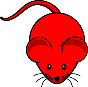Red Mouse Red Tail Clip Art