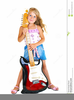 Little Girls Playing Clipart Image