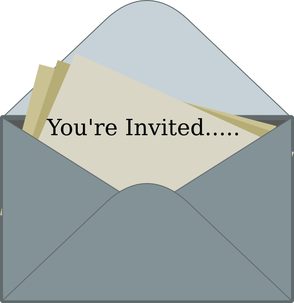 Invitation Clip Art At Clker Com Vector Clip Art Online Royalty