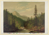 [mountain Scene, 2 Men, 1 Fishing] Image