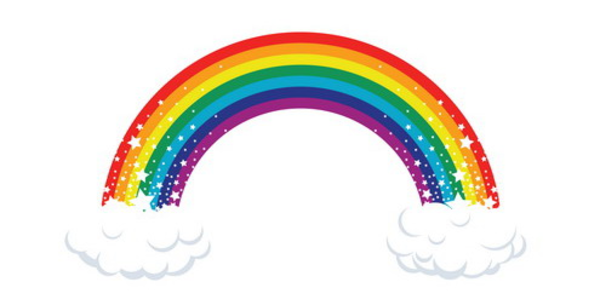 clipart rainbow with clouds - photo #20