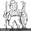 Clipart Of Men Fishing Image