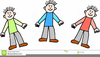 Clipart Of Three Little Girls Image