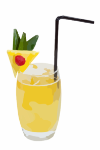 Pineapple Cocktail Clip Art