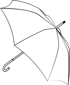Umbrella Outline Clip Art