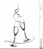 Free Clipart Champagne Flutes Image