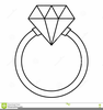 Diamond Ring Clipart Black And White Image