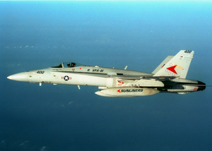 An F/a-18  Hornet  From Carrier Air Wing One Seven (cvw 17) Image